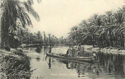KORA CREEK,  BASRA  boat being punted centre