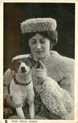 MISS DELIA MASON with dog