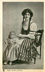 MISS ALICE HATTON  with doll