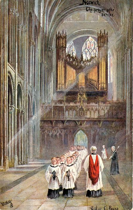 NORWICH. THE PRAYER AFTER SERVICE
