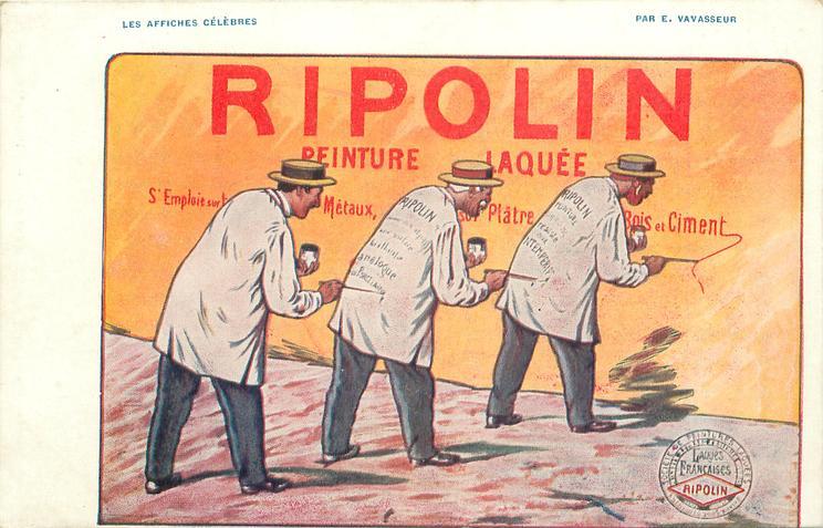 RIPOLIN PEINTURE LAQUEE/CIMENT  three men paint