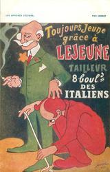 TOUJOURS JEUNE GRACE A LEJEUNE TAILLEUR 8 BOULD. DES ITALIENS tailor measuring