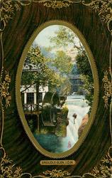 GROUDLE GLEN  mill, water-wheel, waterfall