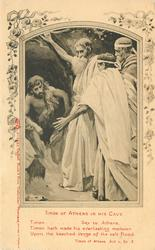 TIMON OF ATHENS IN HIS CAVE & verse, TIMON OF ATHENS, ACT V, SC. 2