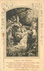 TITANIA AND BOTTOM & verse, A MIDSUMMER-NIGHT'S DREAM, ACT 4, SC. 1