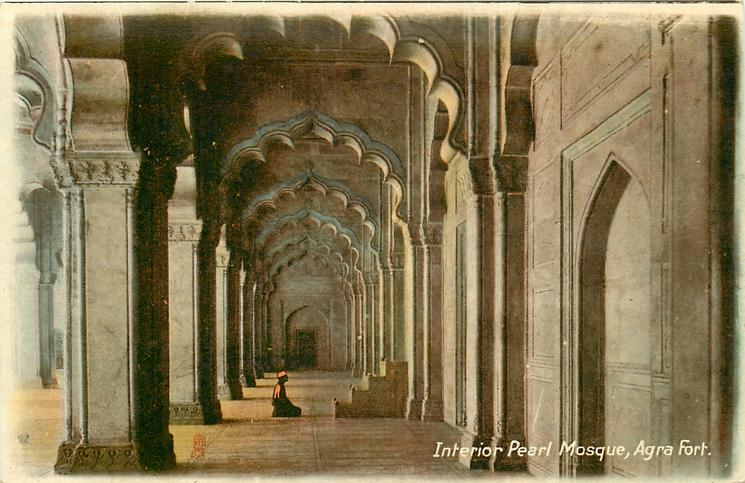 INTERIOR PEARL MOSQUE, AGRA FORT