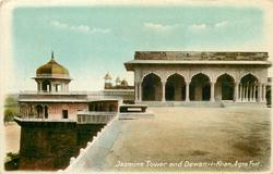 JASMINE TOWER AND DEWAN-I-KHAN, AGRA FORT