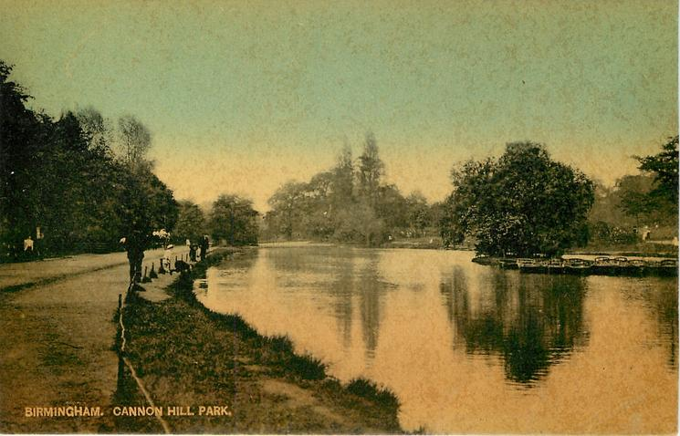 CANNON HILL PARK  path to left, water to right