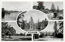 5 insets, THE RIVER THAMES, RUNNYMEADE/BELL WEIR LOCK/ROYAL HOLLOWAY COLLEGE/ENGLEFIELD GREEN/GREAT FOSTERS