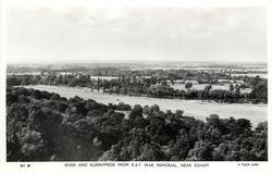 RIVER AND RUNNYMEADE FROM R.A.F. MEMORIAL NEAR EGHAM