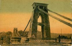 CLIFTON SUSPENSION BRIDGE, close view