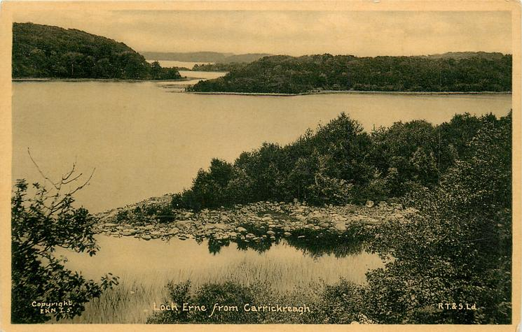 LOCH ERNE FROM CARRICKREAGH  no road