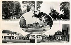 5 insets  NONSUCH PARK GATES/ST. MARY'S CHURCH/THE BROADWAY/HIGH STREET/THE BROADWAY