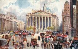 THE BANK OF ENGLAND, ROYAL EXCHANGE & MANSION HOUSE