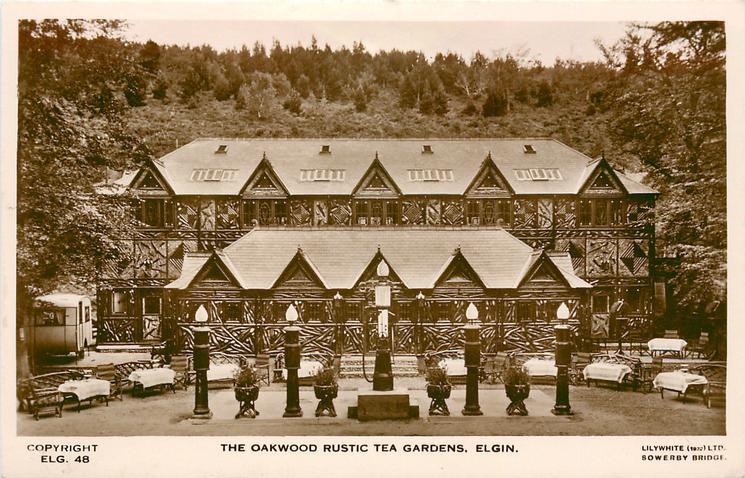 THE OAKWOOD RUSTIC TEA GARDENS direct view
