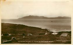 SHOWING ISLAND OF RHUM IN DISTANCE
