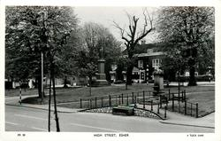 HIGH STREET monument and dead tree