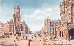 VIEW OF VICTORIA TERMINUS AND MUNICIPAL BUILDING