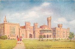 PALACE OF H.H. THE MAHARAJA OF MYSORE (spelt MAHARAJAH on back)