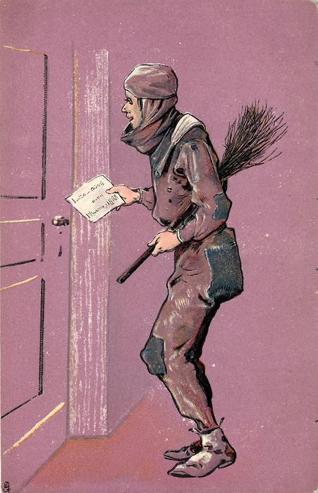 chimney sweep delivers message