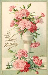 TO WISH YOU A HAPPY BIRTHDAY  pink carnations