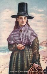 YOUNG WELSH FISHERWOMAN IN NATIONAL COSTUME