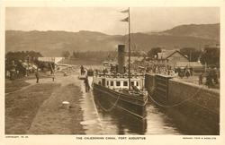 THE CALEDONIAN CANAL boat fore end