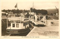 THE CALEDONIAN CANAL boat aft end