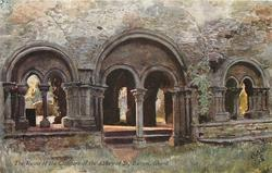 THE RUINS OF THE CLOISTERS OF THE ABBEY OF ST. BAVON