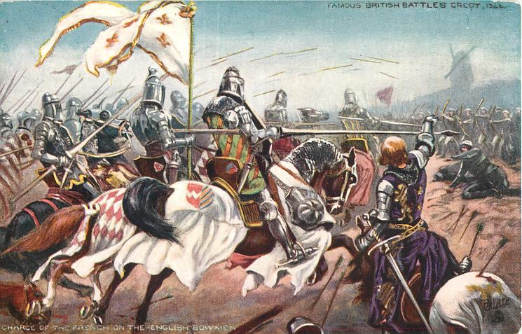 CRECY-CHARGE OF THE FRENCH ON THE ENGLISH BOWMAN