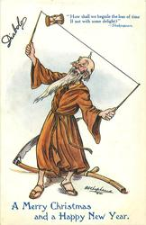 A MERRY CHRISTMAS AND A HAPPY NEW YEAR  Father Time doing diabolo