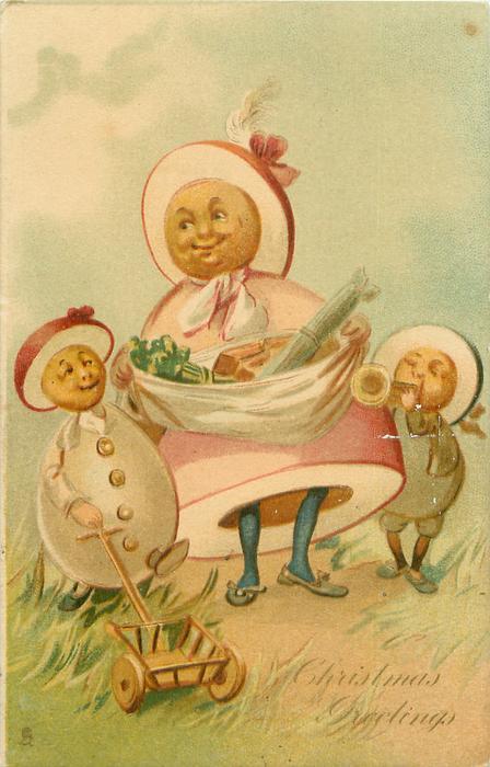 egg-mother & two egg-children