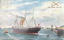 S.S.  NILE LEAVING SOUTHAMPTON
