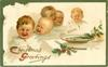 CHRISTMAS GREETINGS   ALL GONE!... five children crying over empty plate