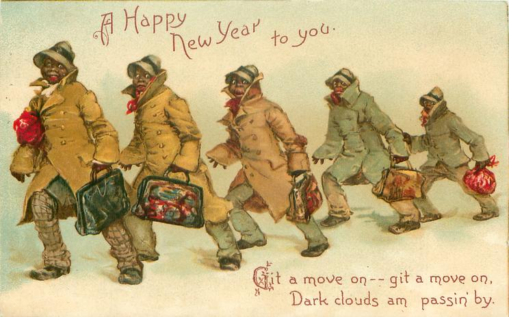 A HAPPY NEW YEAR TO YOU  five black men move left