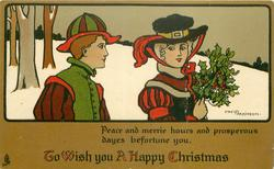 TO WISH YOU A HAPPY CHRISTMAS  PEACE AND MERRIE HOURS AND PROSPEROUS DAYES BEFORTUNE YOU