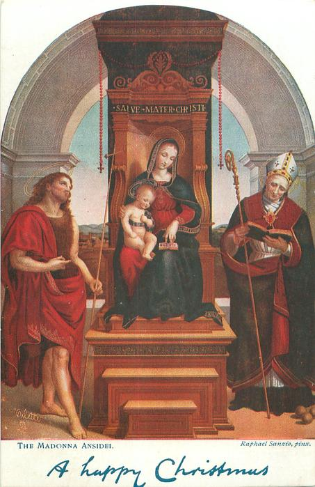 A HAPPY CHRISTMAS  THE MADONNA ANSIDEI
