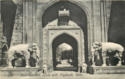 DELHI GATE FORT, INSIDE WITH ELEPHANTS