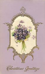 silk inset bunch of violets