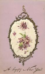 silk inset scattered violets