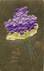 A HAPPY NEW YEAR  one bouquet of violets