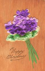 A HAPPY CHRISTMAS  single bouquet of violets