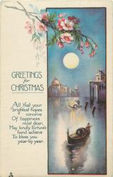 GREETINGS FOR CHRISTMAS  venetian scene