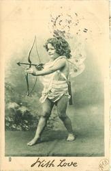 cupid with bow drawn