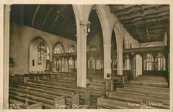 DUNSTER CHURCH  interior