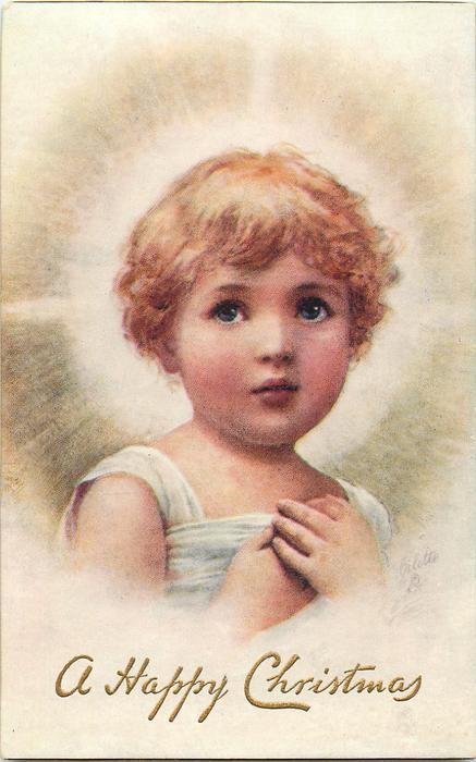 blonde Jesus with halo of light