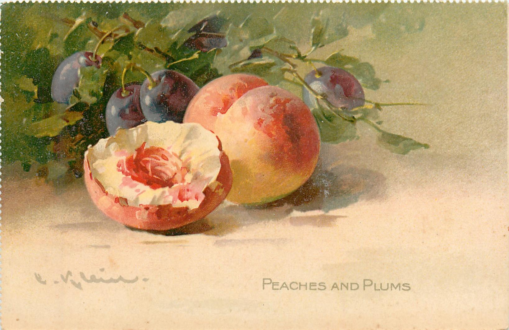 Ромашки анимацией, персики открытка