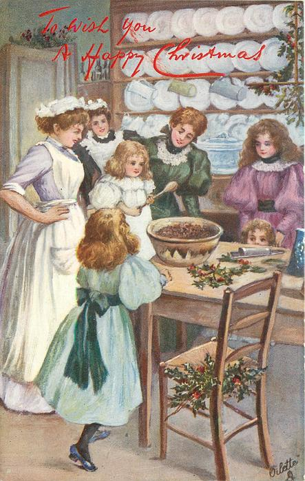 girl standing with a spoon while cook & other girls observe