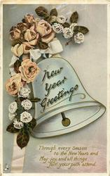NEW YEAR GREETINGS   bell & roses
