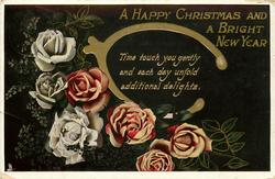 A HAPPY CHRISTMAS AND A BRIGHT NEW YEAR  wishbone & roses